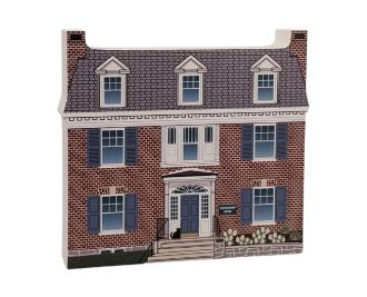 """Eisenhower House, Nat'l HS, Gettysburg, Pennsylvania. Handcrafted in the USA 3/4"""" thick wood by Cat's Meow Village."""