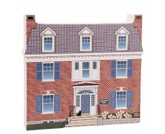 "Eisenhower House National Historic Site, Gettysburg, Pennsylvania. Handcrafted in the USA 3/4"" thick wood by Cat's Meow Village."