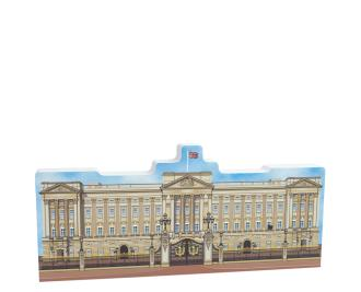 "Replica of Buckingham Palace created with inspiration from the Downton Abbey movie. Handcrafted of 3/4"" thick wood by The Cat's Meow Village in Wooster, Ohio."