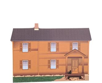 "Henry House, Manassas Nat'l Battlefield Park, VA. Handcrafted in the USA 3/4"" thick wood by Cat's Meow Village."