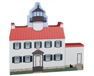 East Point Lighthouse, Heislerville, New Jersey.  Handcrafted in the USA by Cat's Meow Village.