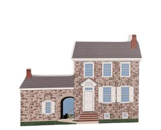 """George Washington's Headquarters, Valley Forge, Pennsylvania. Handcrafted in the USA 3/4"""" thick wood by Cat's Meow Village."""
