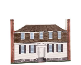 Beautifully detailed replica of Moore House, Yorktown, Virginia.  Handcrafted in the USA by Cat's Meow Village.