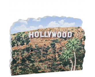 Hollywood Sign, Los Angeles, California.  Handcrafted by Cat's Meow Village in the USA.