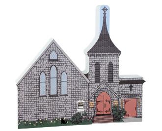 Saint John's Episcopal Church, Sandwich, Massachusetts, Cape Cod.  Handcrafted by Cats Meow Village in the USA.
