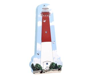 "Replica of Barnegat Lighthouse on Long Beach Island, NJ. Handcrafted in 3/4"" thick wood by The Cat's Meow Village in the USA>"