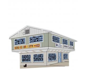 """Souvenir City, Ocean City, Maryland. Handcrafted in the USA 3/4"""" thick wood by Cat's Meow Village."""