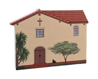 "Mission San Fernando, Los Angeles, CA. Handcrafted in the USA 3/4"" thick wood by Cat's Meow Village."