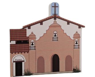 "Mission San Antonio De Padua, Jolon, California. Handcrafted in the USA 3/4"" thick wood by Cat's Meow Village."