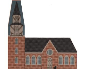 Cat's Meow handcrafted wooden replica of Bruton Parish Church in Williamsburg, VA