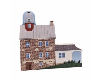 "Selkirk Lighthouse, Pulaski, New York. Handcrafted in the USA 3/4"" thick wood by Cat's Meow Village."