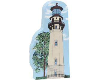 Cat's Meow Village handcrafted wooden replica of the Staten Island Lighthouse on Staten Island, New York