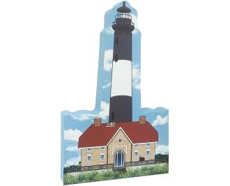 Get your paws on this Fire Island Lighthouse from Captree Island, NY. Add it to your home decor to remind you of the 192 steps you climbed to the top. Handcrafted in the USA by The Cat's Meow Village.