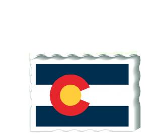 Slightly larger than a deck of cards, this wooden postcard version of the Colorado flag can fit into any nook around your home or workplace showing off your state pride! Handcrafted in the USA by The Cat's Meow Village.