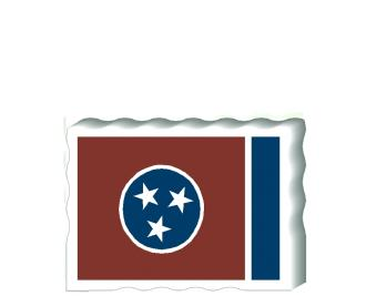 Slightly larger than a deck of cards, this wooden postcard version of the Tennessee flag can fit into any nook around your home or workplace showing off your state pride! Handcrafted in the USA by The Cat's Meow Village.