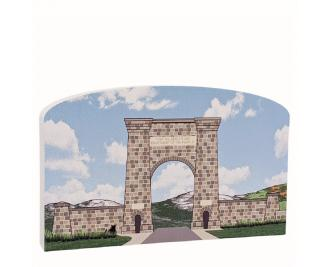 """This lovely design brings the Roosevelt Arch into your home. Made in the USA out of 3/4"""" thick wood."""
