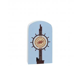 """Fisherman's Wharf sign in San Francisco, CA. handcrafted in 3/4"""" wood by the Cat's Meow Village in the USA."""