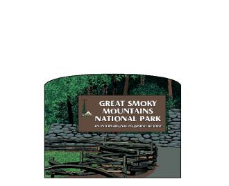 "Great Smoky Mountain National Park Sign handcrafted in 3/4"" thick wood by The Cat's Meow Village in the USA."