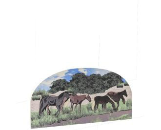 "The wild horses of Currituck roam the northern section of the Outer Banks. Handcrafted in 3/4"" thick wood by The Cat's Meow Village."