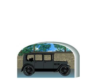 Vintage motor car resembling the ones used in Downtown Abbey. Handcrafted in the USA by The Cat's Meow Village.