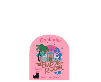 """Bubble Room Sign, Captiva, Florida. Handcrafted in the USA 3/4"""" thick wood by Cat's Meow Village."""