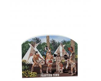 """Frontier Town - Indian Village, Ocean City, Maryland. Handcrafted in the USA 3/4"""" thick wood by Cat's Meow Village."""