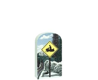 Snowmobile Crossing Sign Front