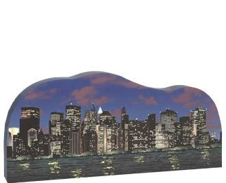 "Celebrate your night in New York City gazing upon her city lights with our 3/4"" thick wooden handcrafted replica. Crafted in the USA by The Cat's Meow Village"
