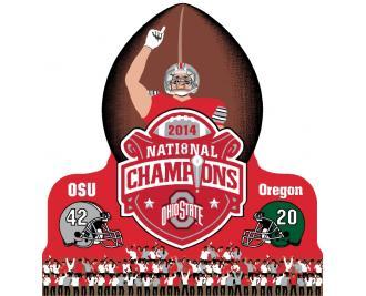 Ohio State Football 2014 National Champions vs Oregon. Go Buckeyes!