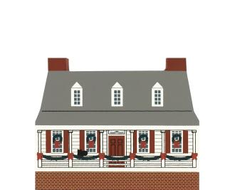 "Vintage Rising Sun Tavern from Colonial Virginia Christmas Series handcrafted from 3/4"" thick wood by The Cat's Meow Village in the USA"