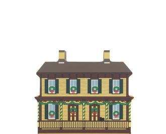 "Vintage Sarah Jordan Boarding House from Greenfield Village Christmas Series handcrafted from 3/4"" thick wood by The Cat's Meow Village in the USA"
