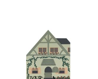 "Vintage Seven Dwarfs House from Fairy Tale Series handcrafted from 3/4"" thick wood by The Cat's Meow Village in the USA"