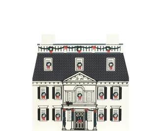 "Vintage Sheldon's Tavern from Christmas in New England handcrafted from 3/4"" thick wood by The Cat's Meow Village in the USA"