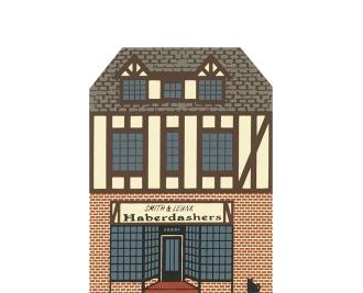 """Vintage Smith & Leunk Haberdashers from Series VIII handcrafted from 3/4"""" thick wood by The Cat's Meow Village in the USA"""