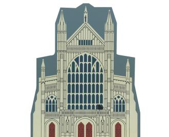 "Vintage Winchester Cathedral from English Traveler Series handcrafted from 3/4"" thick wood by The Cat's Meow Village in the USA"