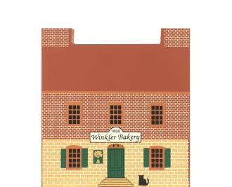 "Vintage Winkler Bakery from Series VII handcrafted from 3/4"" thick wood by The Cat's Meow Village in the USA"