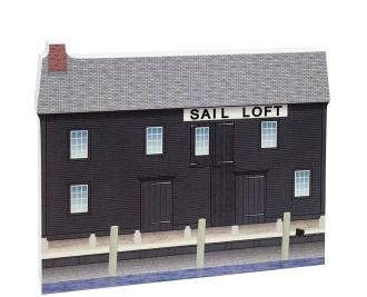 "Replica of the Pedrick Store House part of the Salem Maritime National Historic Site. Handcrafted of 3/4"" thick wood with colorful details on the front and history on the back. Made by Cat's Meow Village in Wooster, Ohio."