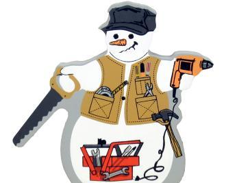 snowman, winter, tools, fix-it, mr. Fix it Snowman