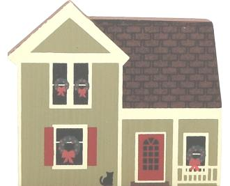 "Vintage Olmstead House from Western Reserve Christmas Series handcrafted from 3/4"" thick wood by The Cat's Meow Village in the USA"