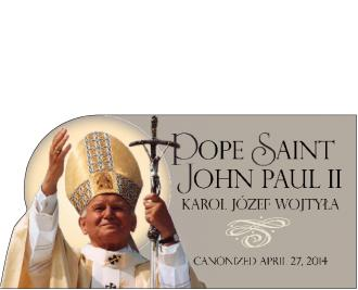 Pope Saint John Paul II, canonized April 27th, 2014, Catholic Church