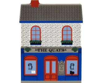 The Quays Bar and Pub, Galway, County Galway, Ireland handcrafted from wood by The Cat's Meow Village