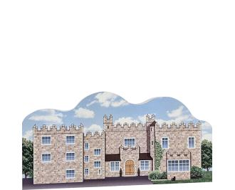 "Wooden replica of Waterford Castle for your home decor to remember your trip there. Handcrafted of 3/4"" thick wood by The Cat's Meow Village in the USA."