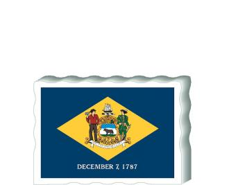 Slightly larger than a deck of cards, this wooden postcard version of the Virginia flag can fit into any nook around your home or workplace showing off your state pride! Handcrafted in the USA by The Cat's Meow Village.