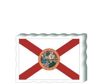 Slightly larger than a deck of cards, this wooden postcard version of the Florida flag can fit into any nook around your home or workplace showing off your state pride! Handcrafted in the USA by The Cat's Meow Village.