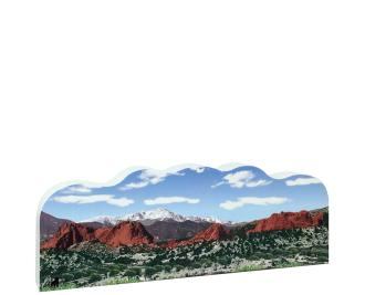 "Garden of the Gods, Colorado Springs, CO Artisan created replica in 3/4"" thick wood."