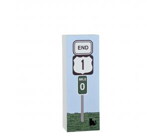 """US Route 1 End signpost in Key West, Florida. Handcrafted in 3/4"""" thick wood by The Cat's Meow Village in Wooster, Ohio...far from Key West...but dreaming!"""