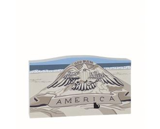 Wooden replica of God Bless America Sand Sculpture, Ocean City, Maryland
