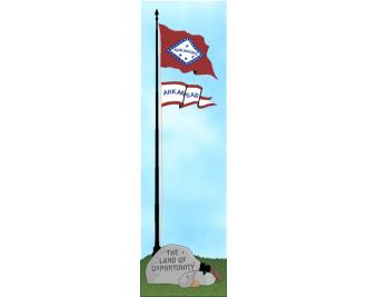 Cat's Meow State Flag representing Arkansas