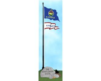 Cat's Meow State Flag representing Kansas