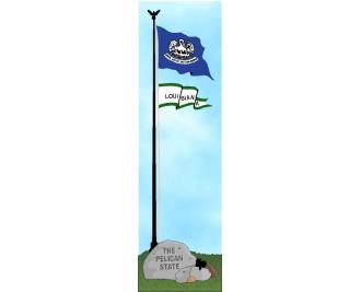 Cat's Meow State Flag representing Louisiana